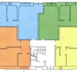 Pianta casa colorata - pulita