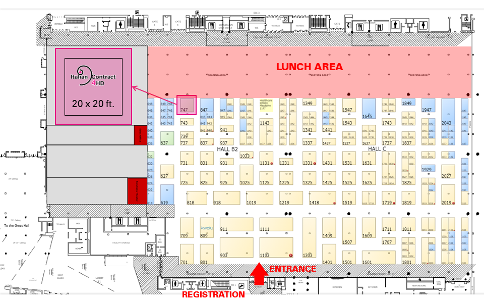 hcd floorplan IC4HD RESERVED area