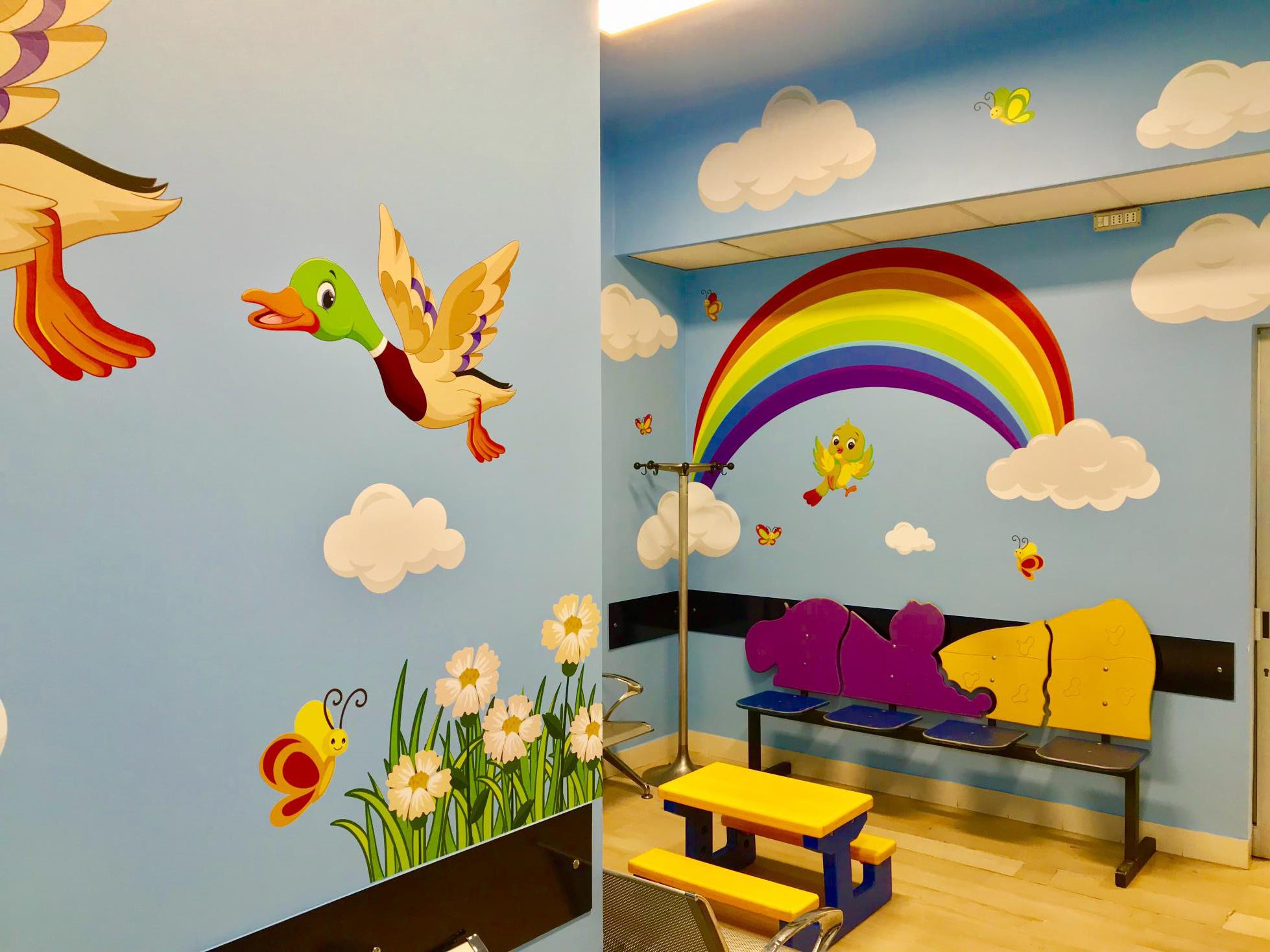 Nuvoletta - Sala attesa otorinolaringoiatria Ospedale Infantile Regina Margherita - Città della Salute -Torino